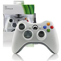 Проводной джойстик Microsoft Xbox 360 White Оригинал Белый, фото 1
