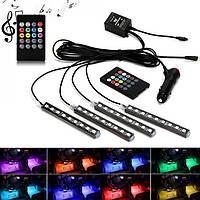 Универсальная автомобильная RGB led подсветка LED AMBIENT HR-01678, RGB подсветка для авто, влагозащитная, фото 1