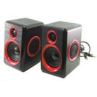 Колонки для ПК компьютера F&T FT-165 Black, Red, фото 1