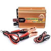 Автомобильный преобразователь напряжения UKC SSK 24V-220V 500W, авто инвертор, 12В 220В 500Вт, фото 1