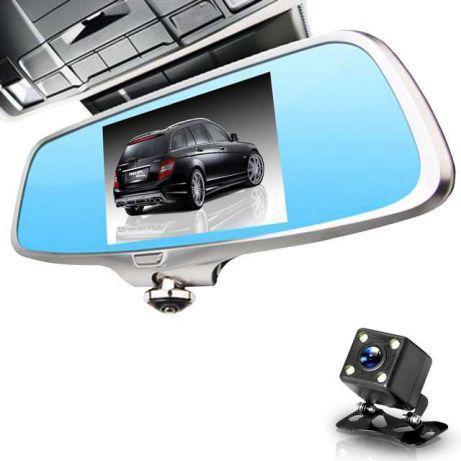 """Сенсорный видеорегистротор зеркало CAR DVR K15 Android 5"""" A66 на две камеры с камерой заднего вида"""