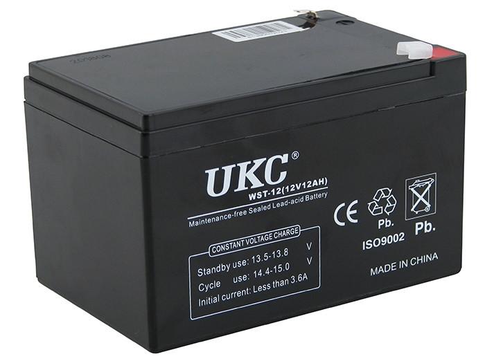 Универсальный аккумулятор UKC 12V 12Ah WST-12 (Аккумуляторная батарея 12В 12Ач)