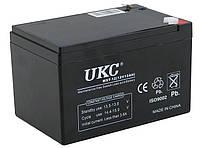 Универсальный аккумулятор UKC 12V 12Ah WST-12 (Аккумуляторная батарея 12В 12Ач), фото 1