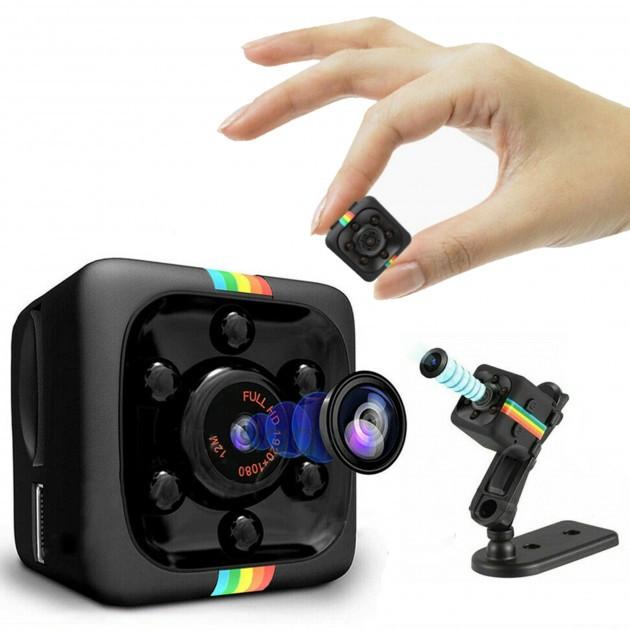 Цветная мини камера видео наблюдения Apleok Mini SQ11 1080P миниатюрная с подсветкой для видеонаблюдения шпион
