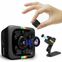 Цветная мини камера видео наблюдения Apleok Mini SQ11 1080P миниатюрная с подсветкой для видеонаблюдения шпион, фото 1
