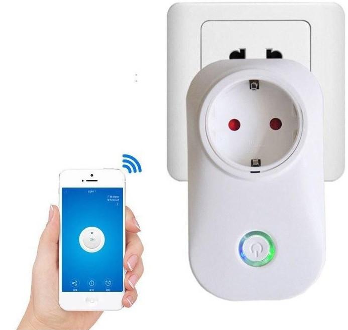 Умная WiFi розетка WiFi Smart Socket Plug SA-14 10A 100-240V управление с телефона Wi-Fi