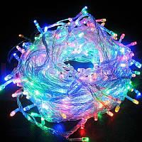 Внутренняя цветная гирлянда 28 м 400 диодов 4949 светодиодная гирлянда Xmas LED 400 M-1 RGB Мультицветная 28м, фото 1