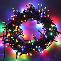 Внутренняя цветная гирлянда 28 м 400 диодов 4953 светодиодная гирлянда Xmas LED 400 M-4 RGB Мультицветная 28м, фото 1