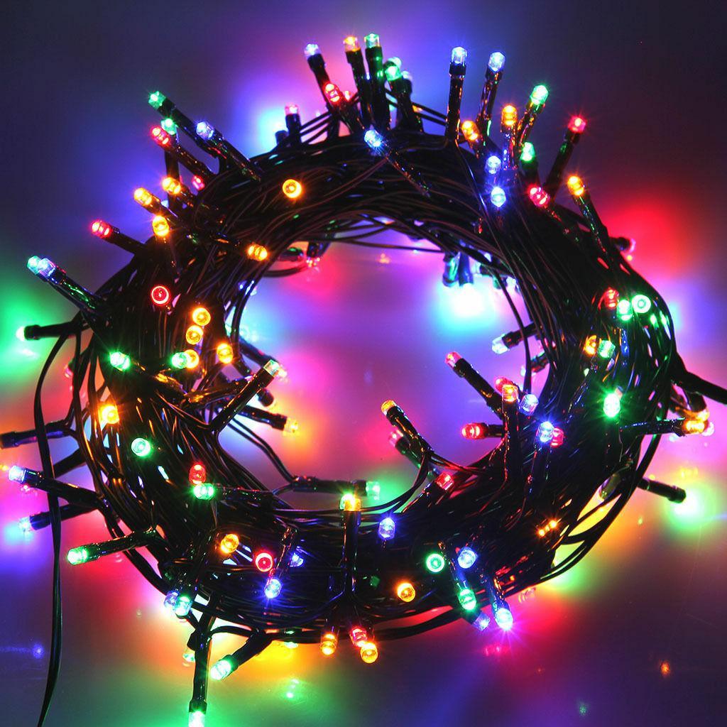 Внутренняя цветная гирлянда 21 м 300 диодов 3844 светодиодная гирлянда Xmas LED 300 M-4 RGB Мультицветная 21м