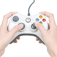Проводной USB Джойстик для ПК USB-360 White под видом Xbox 360 вибро Белый, фото 1