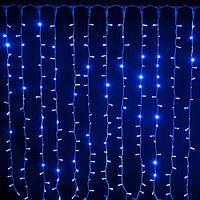 Внутренняя гирлянда Водопад (Штора) Синяя 3x3 м 480 диодов 3904 светодиодная гирлянда Xmas 480 LED B-3 3мx3м, фото 1