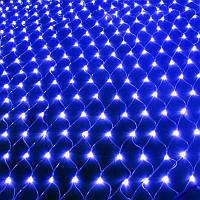 Внутренняя гирлянда Сетка Синяя 1.8x1.8 м 180 диодов 0159 светодиодная гирлянда Xmas 180 LED B-3 1.8мx1.8м, фото 1