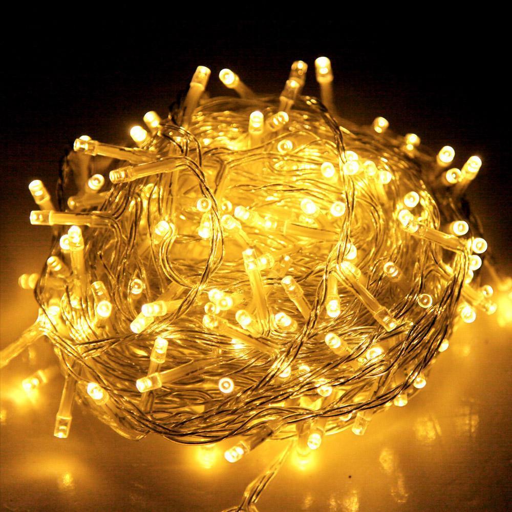 Внутренняя гирлянда Теплый белый 7 м 100 диодов 3874 светодиодная гирлянда Xmas LED 100 WW-1 7м
