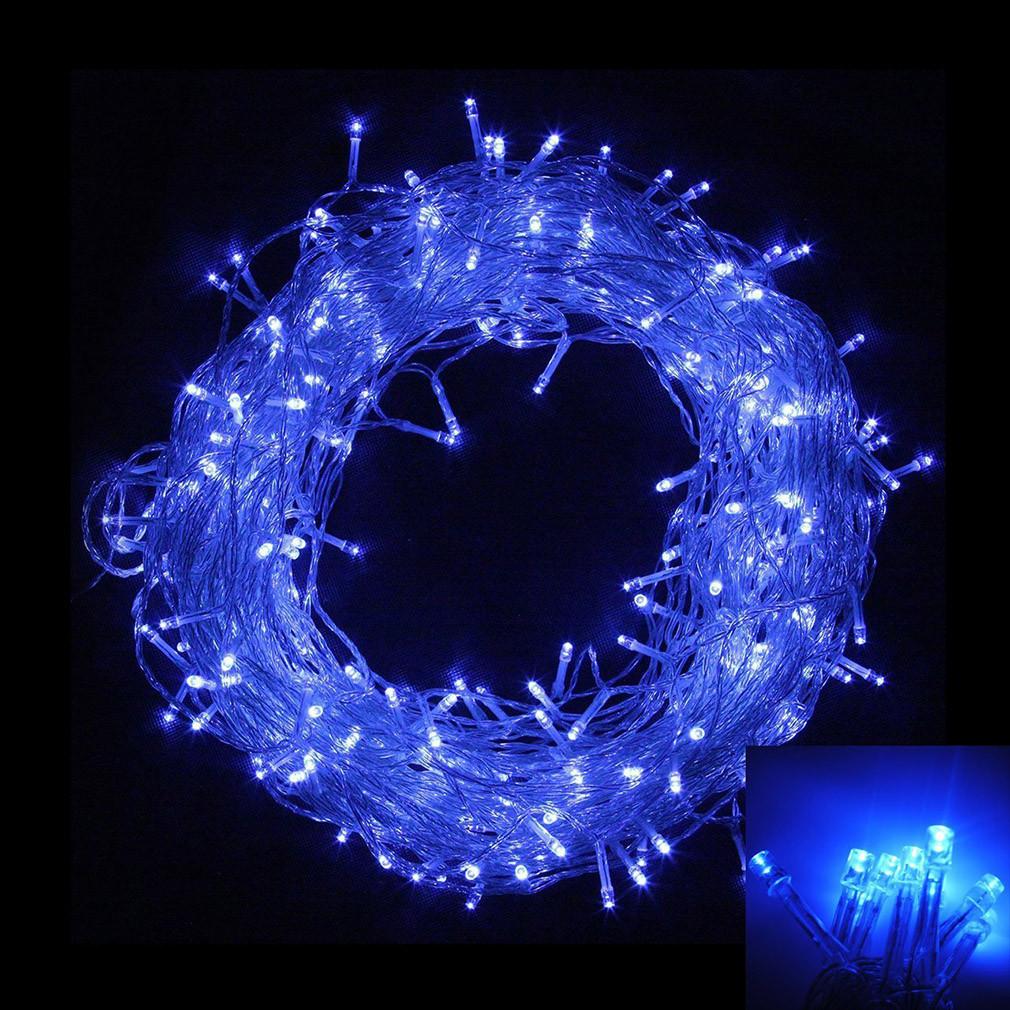 Внутренняя гирлянда Нить Синяя 28 м 400 диодов 4881 светодиодная гирлянда Xmas LED 400 B-1 28м