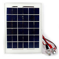 Универсальная солнечная панель Solar board UKC 5W 9V со щупами 250x190x17 мм, фото 1