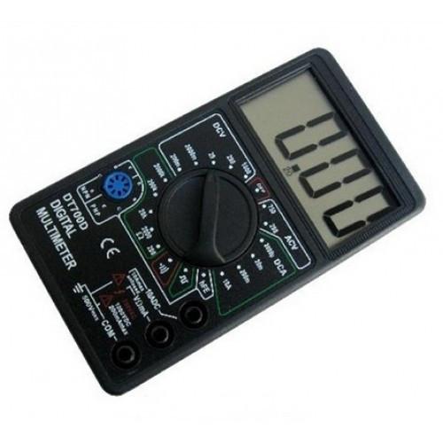 Компактный мультиметр универсальный Digital DT700D звуковой износостойкий карманный