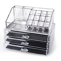 Акриловый органайзер для косметики Cosmetic storage Organizer настольный, фото 1