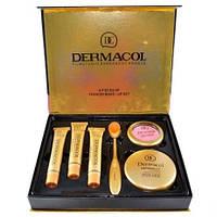 Набор тональных кремов Dermacol Make-up 6 в 1 M809 210, 211, 212 + Кисть щетка, Пудра, Румяна