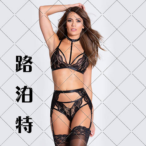 Эротическое нижнего белья в черном цвете. Сексуальное белье. Эротическое женское белье., фото 2