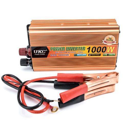 Преобразователь автомобильный инвертор UKC 24V-220V 1000W