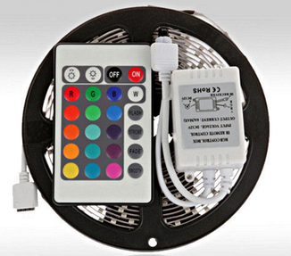 Светодиодная лента многоцветная LED 3528 RGB Комплект 5 метров