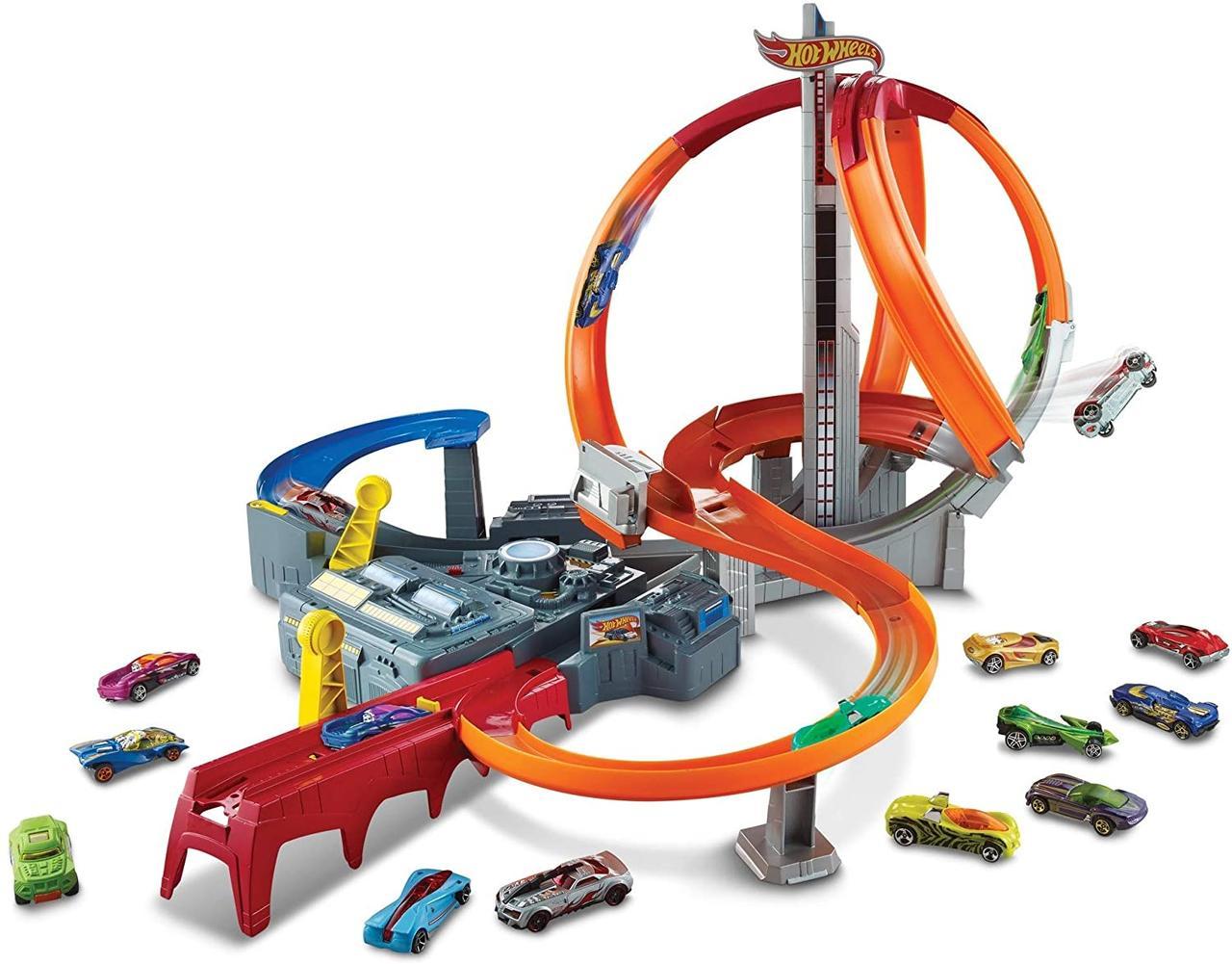 Трек Хот Вилс Головокружительные виражи Hot Wheels Spin Storm Track Set