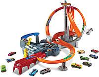 Трек Хот Вилс Головокружительные виражи Hot Wheels Spin Storm Track Set, фото 1