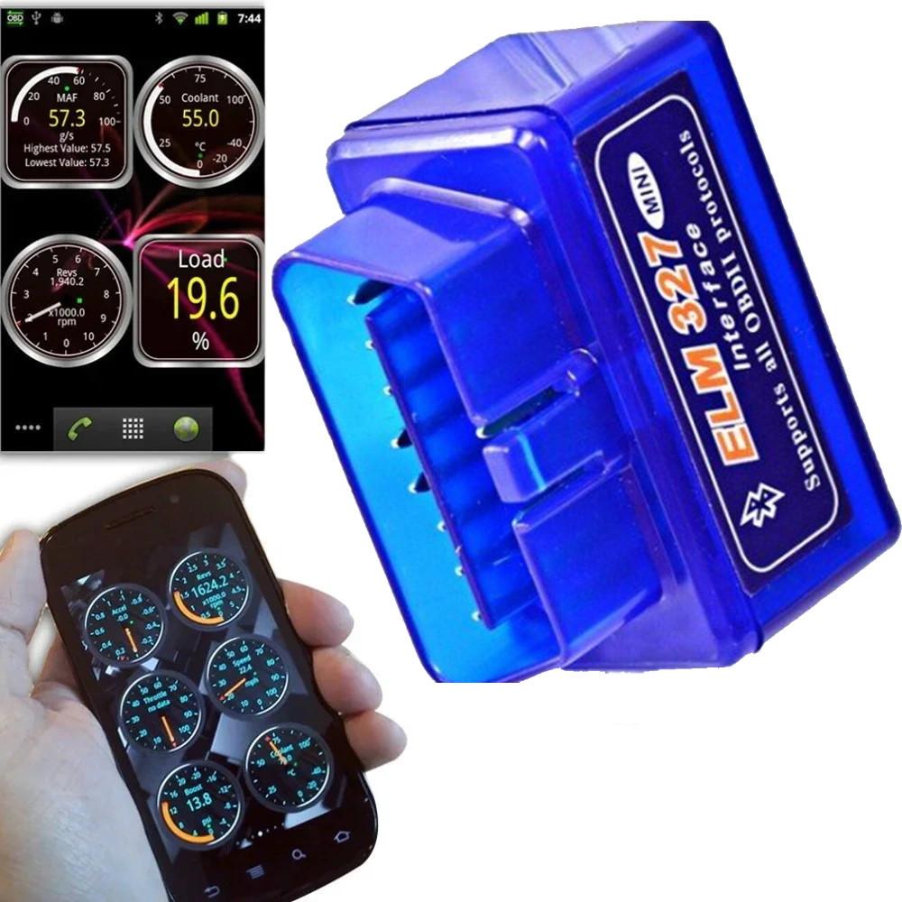 Автомобильный мини диагностический сканер ELM327 OBD2 Bluetooth для диагностики авто