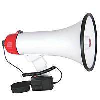 Ручной мегафон рупор ER-55U 20W дальность 400м громкоговоритель с выносным микрофоном, фото 1