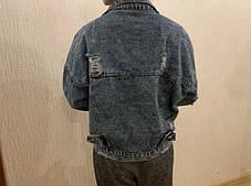 Женская джинсовая куртка oversize, фото 3