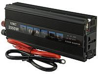 Автомобильный преобразователь напряжения UKC SSK 12V-220V 2000W, авто инвертор в коробке, 12В 220В 2000Вт, фото 1