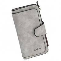 Женский замшевый кошелек Baellerry Forever N2345 Grey серый, фото 1