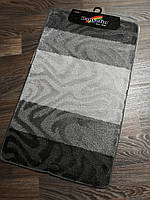 Набір килимків в ванну і туалет 100*60 см Banyolin сірий, фото 1