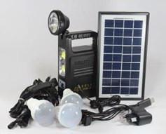 Фонарик с солнечной батареей (USB порт, 3 подвесные лампочки, USB кабель с переходниками) GD 8033