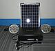 Фонарик  с солнечной батареей   USB порт   3 подвесные лампочки  USB кабель с переходниками GD 8012 , фото 2