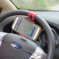 Держатель телефона на руль авто HOLDER 800 автомобильный держатель, фото 1
