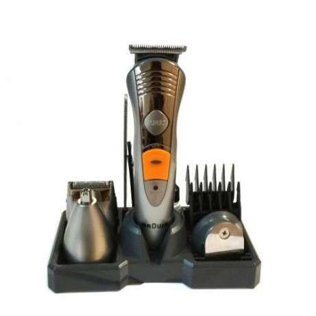 Аккумуляторная машинка для стрижки волос и бороды Braun MP-5580, 7 в 1