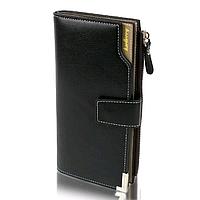Мужской кошелек Baellerry Carteira C1283 Black черный, мужское портмоне, барсетка, фото 1