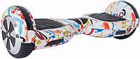 "Гироскутер гироборд Smart Balance Wheel 6.5"" A3 с автобалансом и Bluetooth Graffiti Граффити брызги краски, фото 1"