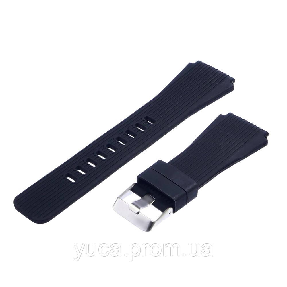 Ремешок силиконовый для Samsung S3/ S4 22mm чёрный