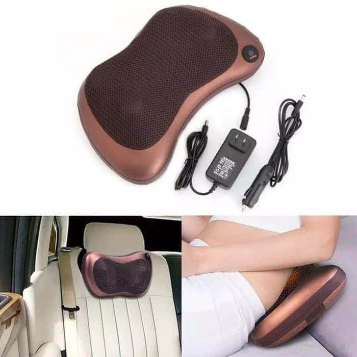 Массажная подушка с инфракрасным подогревом Massage Pillow QY-8028, роликовый масажер для спины и шеи