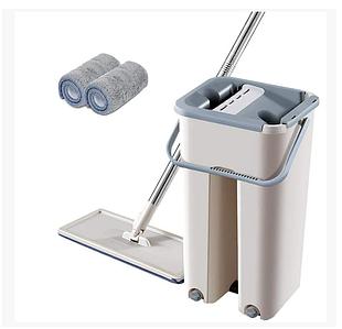 Швабра лентяйка с ведром и автоматическим отжимом, комплект для уборки Mop Self Wash