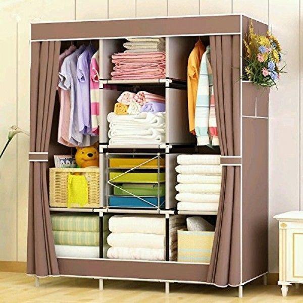 Складной шкаф органайзер для одежды HCX STORAGE WARDROBE 88130 на 3 секции