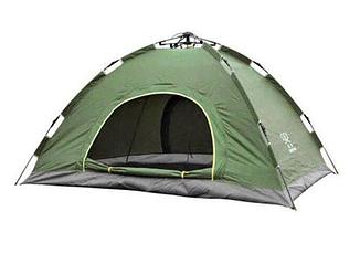 Палатка автоматическая 4-х местная туристическая зеленая