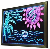 Рекламная светящаяся LED доска 400х600 ( флуоресцентная ) 400 х 600 fluorecent board 40*60, фото 1