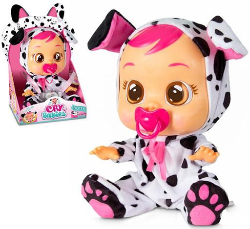 """Интерактивная игрушка Кукла пупс плакса Дотти Cry """"CRY BABIES"""" 26см."""