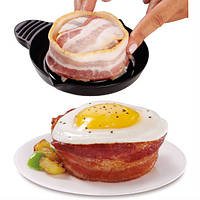 Набор форм для выпечки бекона Perfect Bacon Bowl cъедобная тарелка, фото 1