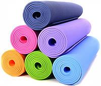 Коврик для занятия йоги и фитнеса 173x61x0.5 см, йогамат, фото 1