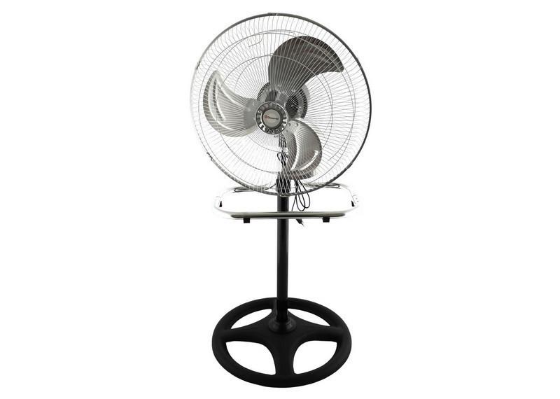 """Напольный, Настольный вентилятор Domotec MS-1622 2 в 1 с железными лопастями 44 см stand fan Timer 17"""" 60W"""
