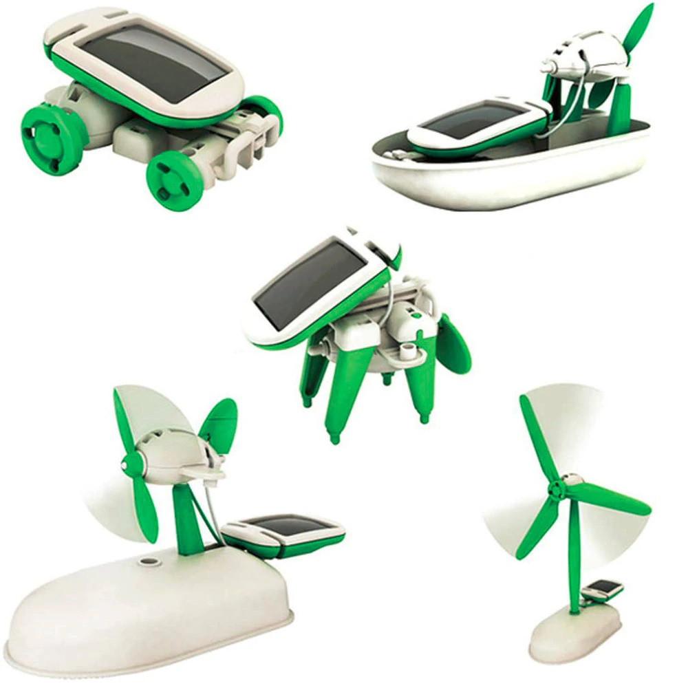 Обучающий конструктор робот 6 в 1 на солнечной батарее